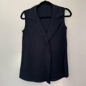 Elie Tahari navy blouse small